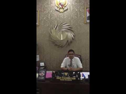 Video Ucapan Wakil Walikota Palu Untuk Reuni PPI Sulteng 2016
