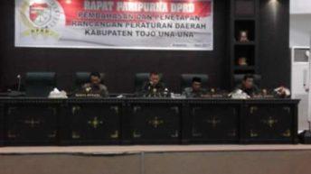 DPRD Touna Gelar Rapat Paripurna Pembahasan dan Penetapan Ranperda 2017