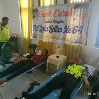 Peringati HUT Polantas ke 64, Satlantas Polres Touna Gelar Bhakti Sosial Donor Darah