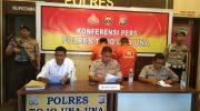 Polres Touna Press Release Pelaku Pencurian Baterai Tower