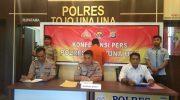 Polres Touna Gelar Press Release Kasus Pencurian Henpond