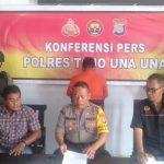 Polsek Ampana Kota Saat Menggelar Konfrensi Pers Pengungkapan KasusPencurian TV