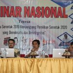 Songsong Pilkada 2020, KPU Touna Gandeng Mahasiswa Untad II Touna Gelar Seminar Nasional